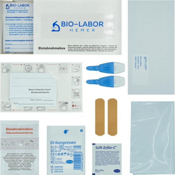Antikörper-Testset-Inhalt